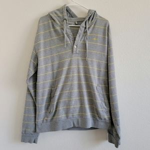 WESC Yellow Striped High Quality Hoodie Sweater